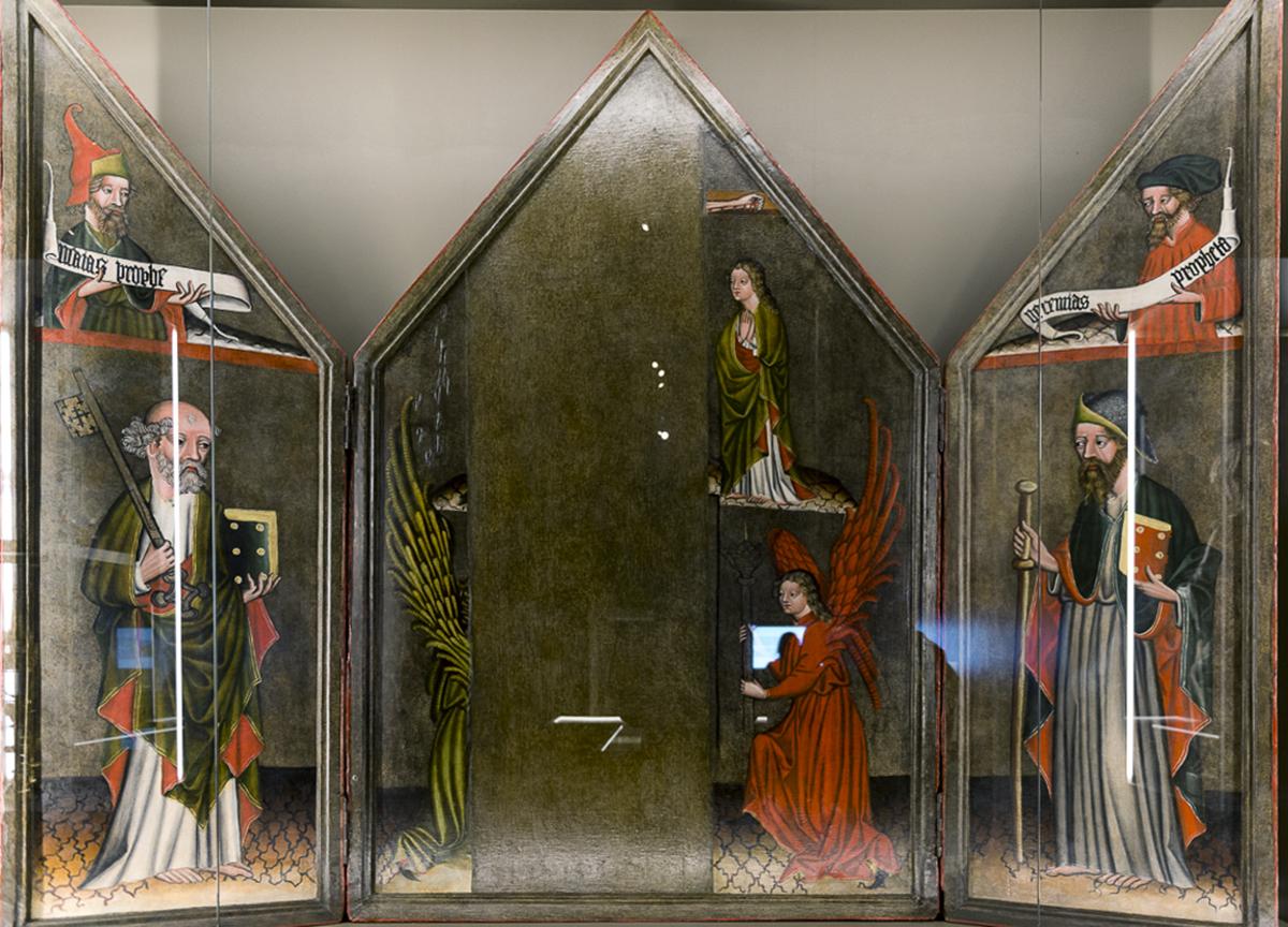 oltář z kostela sv. Jakuba ve Slavětíně, kolem 1450