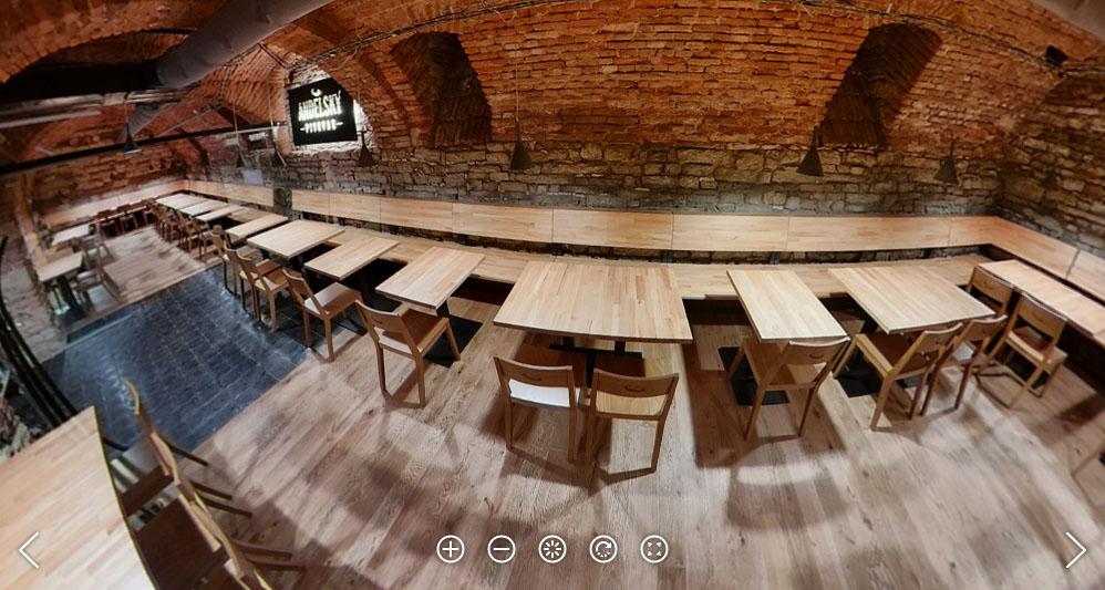 Andělský pivovar s kapacitou pro 120 hostů. Foto: Petr Šálek