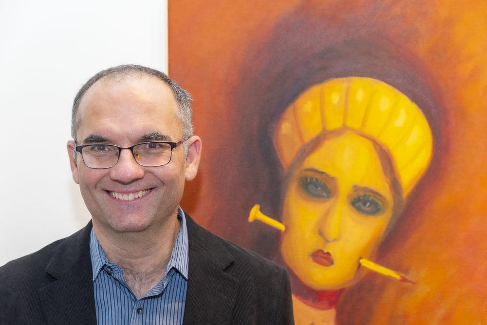 Jaroslav Valečka, autor obrazu Zlatý hřeb , 2019