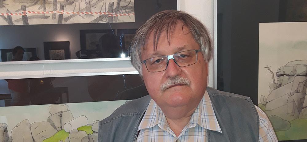 Pavel Sivko vystavuje své nejnovější kolorované kresby vpražské Galerii U zřícené lávky