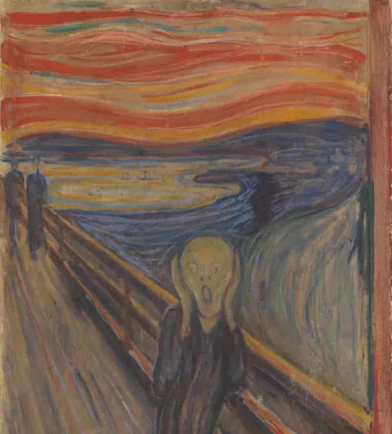 Záhadný nápis na slavném obrazu Výkřik napsal sám malíř Edvard Munch