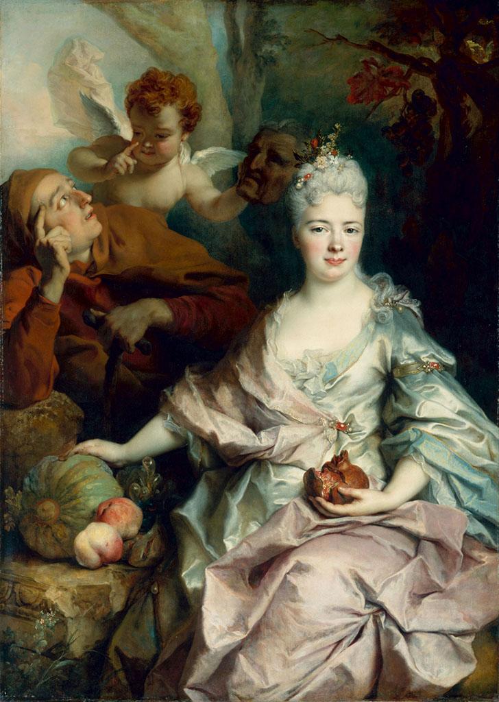 Obraz Portrét dámy jako Pomona se vrátil kpotomkům původních majitelů